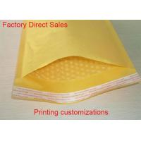 Quality High Frequency Heat Seal Kraft Paper Bubble Mailers Matt Surface Eco - Friendly for sale