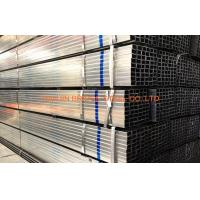 Quality BS1387 ERW Pre Galvanized Steel Square Tubing / Pipe Q195 - Q235 for sale