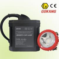 Buy cheap ATEX approved LED coal miner's cap lamp, 6Ah corded mining cap light for sale from wholesalers
