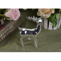 Buy Silver Mercury Animal Ceramic Mantle Shelf Table Centerpiece Deer Decor at wholesale prices