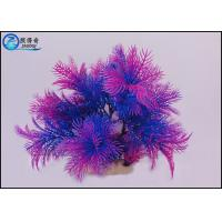 Quality Professional Colorful Plastic Artificial Aquarium Plants 10 Inch For Decorating for sale