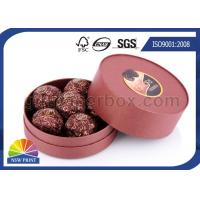 Quality Customized Round Chocolate Packaging Box with Printing , Small Candy Coated Paper Boxes for sale