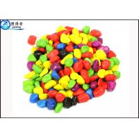 Quality Non-toxic Colorful Grass Cylinder Sand Stone / Pebbles For Aquarium Fish Tanks Decorations for sale