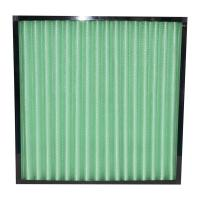 Quality Mini Pleated Industrial Air Filters G1 G2 G3 G4 Efficiency With Plastic Frame for sale