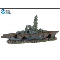 Buy Ship Model Poly resin Ornaments Cool Fish Tank Decorations For Aquarium at wholesale prices