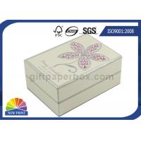 Quality Pearl Decorated Fancy Small Cardboard Paper Box / Rectangle Rigid Paper Box for sale