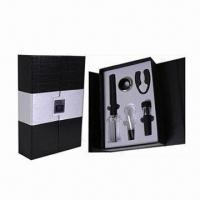 Quality Bar Set, Includes 1pc Cork Pops Wine Opener, 1pc Wine Pourer and 1pc Wine Vacuum Stopper for sale