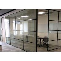 China ISO Modern Half Height Glass Cubicle Dividers  , Boss Office Partition Wall on sale