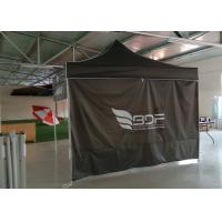 Quality Commercial Grey 3x3 Waterproof Pop Up Gazebo With Side Panels , Digital Print for sale