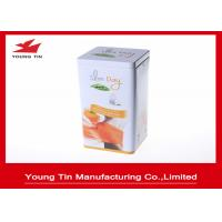 Quality 0.23 MM Thickness Tinplate Metal Tea Packaging Tins Custom Printing and Embossing for sale