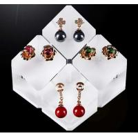 Quality Multifunctional Acrylic Display Stands Engraving Crafts For Rings / Earrings for sale