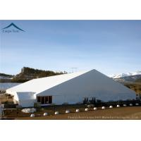 Quality Outdoor Big White Exhibition Fair Canopy Tents Wooden Floor 45m*65m for sale