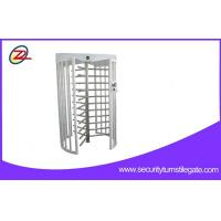 Quality Automatic Full Height Turnstiles Gate 304 Stainless Steel 120 Degree Single Lane for sale
