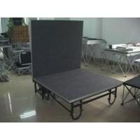 Quality Black Portable Stage Platforms For Mini Show Temporary Stage Platforms for sale