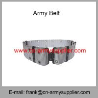 China Wholesale Cheap China Military PP Army Metal Bucklet Police Security  Belt on sale