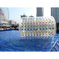 China Transparent Inflatable Water Toys Water Roller Ball Heavy Duty Reinforced on sale