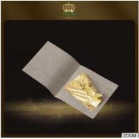 Buy cheap The EFFICIENT Anti-aging,Anti-wrinkling 24K Pure Gold Leaf 4.33*4.33CM facial from wholesalers