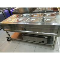 Buy cheap Stainless Steel 8 Pans Bain Marie with Under Shelf 1500*700*800mm from wholesalers