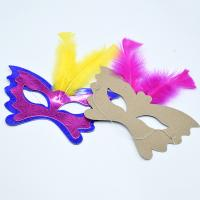 Quality Women Festival Party Decorations Paper Handicraft Masks 350gsm CCNB Material for sale
