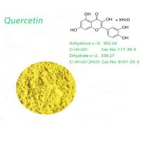 Quality Dihydrate 95.0% HPLC Yellow Organic Quercetin Powder Weight Loss use for sale