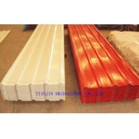 Quality Pre Painted Galvanized Steel Sheet , Color Coated Corrugated Metal Roofing Sheets for sale