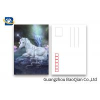 Quality Souvenir Gift 3D Lenticular Card With Customized Logo / Lenticular Photo Printing Postcard for sale