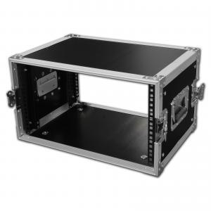 Quality Customized Lighting Rack Flight Case , Black Moving Portable Rackmount Case for sale