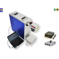 Quality 50W Mini Portable Laser Marking Machine Air Cooling Mode 12000mm/s Marking Speed for sale