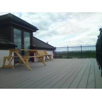 Quality Recyclable WPC Decking Flooring , Wood Plastic Composite Decking Lumber for sale