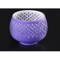 Quality graceful hollow out ceramic votive candle holder wholesale fit solid candle for sale