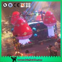 Quality Standing Inflatable Lighting Decoration Giant Inflatable Mushroom For Indoor for sale