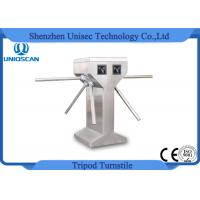 Quality Double Lanes Vertical Tripod Turnstile Gate Stainless Steel 550mm Channel Width for sale