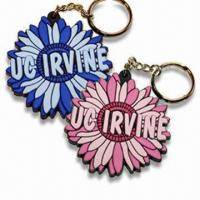 Quality Flower Shaped Keychains, Various Styles are Available, Made of Soft PVC for sale