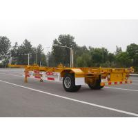 Buy cheap 1 Axle Gooseneck 40 Feet Skeleton Semi Trailer For Cargo Container Transport from wholesalers