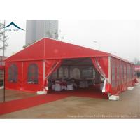 Quality Durable Red Event Tents , Chinese Style Wind Load 100km/h Outdoor Tents , Customized Tent for sale