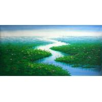 Quality landscape painting mountain lake wall art decor for sale