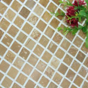Quality Square Pattern Kitchen Backsplash Wall Tile , Stone Kitchen Backsplash Subway Tile for sale
