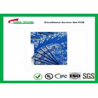 Quality Blue Solder Mask Double Sided PCB FR4 1.6mm Board Thickness , Making PCB Boards for sale