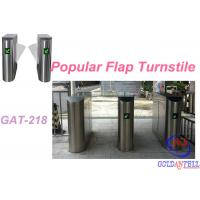 China Popular 2D Qr Code Flap Barrier Gate With Software Sdk / Entrance Turnstile Security Gates on sale
