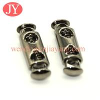 Quality jiayang Supply different shaped metal rope cord lock rope end stopper rope toggle for sale