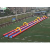 China Custom Inflatable Slip And Slide / Slide The City Water Slide 300M Long on sale