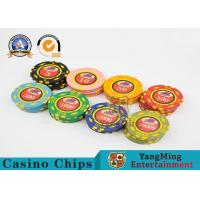 Quality 600pcs Casino Poker Chips Set With Custom Uv Logo Circular Type for sale