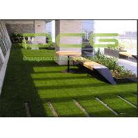 Quality Outdoor Commercial Artificial Grass Landscaping , Fake Grass Lawn Safe And Hygienic for sale