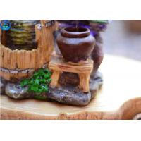 Buy Rockery Fountain Aquarium Water Home Decoration Crafts Round Lucky Feng Shui With Aqua Model at wholesale prices