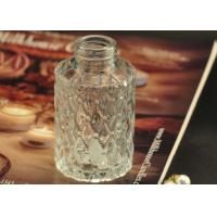 Quality Cut Glass Perfume Bottles Antique Transparent With Emboss Pattern for sale