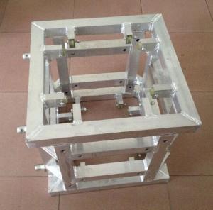 Quality Silver Corner Block Truss Coupler , Aluminum Stage Truss System for sale