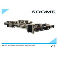 China Electromagnetic Clutch Folder Gluer Machine Simple Operation With Counting And Stacking Part on sale