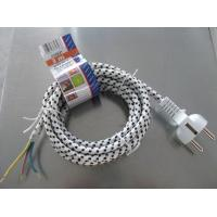 Buy cheap VDE approved cotton braid power cables, European schuko electric iron textile from wholesalers
