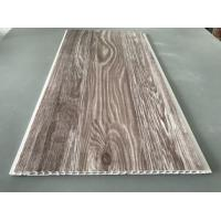 Quality Recyclable Brown PVC Wood Panels As Ceiling Covering 7.5mm Thickness for sale