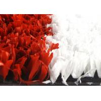 Quality High Density 10mm Synthetic Cricket Pitch Turf Red And White With Soft Touching for sale